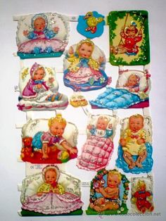 Lackbilder, Glanzbilder, old-fashioned scraps, die cuts, killtokuvat. whatever you call them. All my friends collected them in the late and early ➡️ siehe auch auf der Pinnwand: Lackbilder My Childhood Memories, Sweet Memories, Vintage Baby Pictures, Tiny Dolls, Vintage Paper Dolls, Retro Toys, Paper Toys, Sticker Paper, Stickers