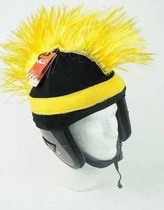 Mental Gear Funky Crazy Ski   Snowboard - HELMET COVER - Razor Mohawk -  Yellow c2928814dc0