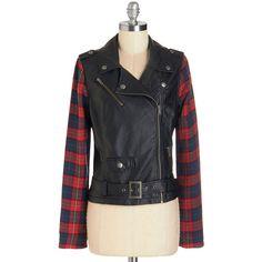 ModCloth Urban Short Length Long Sleeve Clash President Jacket ($20) ❤ liked on Polyvore