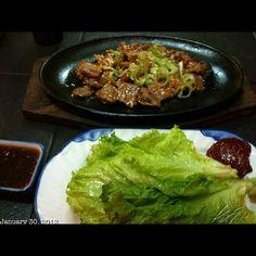 カルビ鉄板焼き #beef #japanese #food #izakaya #philippines