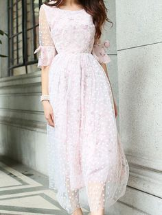Bow Lace Dress Soft Pink $49 IN STORE OR FREE SHIPPING