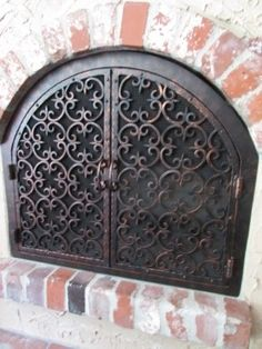 Zoom of a Fireplace Door detail  Call the Fireplace Door Guy  Custom  wrought iron fireplace doors for the kitchen fireplaceTuscan Scroll Wrought Iron Fireplace Screen   Wrought iron  . Custom Wrought Iron Fireplace Screens. Home Design Ideas