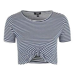 Women's Topshop Twist Front Stripe Crop Top (365.315 IDR) ❤ liked on Polyvore featuring tops, drapey top, stripe top, drape top, twisted drape top and crop top