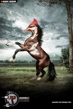 Black&Decker: Woodpecker Horse | Ads of the World™