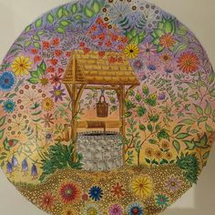 Coloring Page Of Wishing Well I Did From The Secret Garden Book