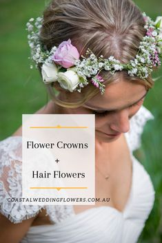Creating beautiful wedding flowers across the Gold Coast, from small intimate settings to large scale events, 18 years experience Coastal Wedding Flowers, Flower Crown Hairstyle, Flower Packaging, Hair Flowers, Flower Crowns, Destination Weddings, Gold Coast, Bouquet, Bridal