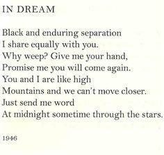 In Dream, Anna Akhmatova