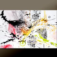 INSTINCT - NEW Abstract Canvas Art Painting 36x24  Original Modern by wostudios, $129.00