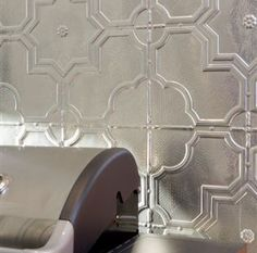 Try using large pressed tin designs such as Stars on outdoor areas.