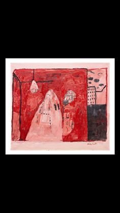 Philip Guston - Inside, 1969 - Oil on canvas - 106,7 x 121,9 cm