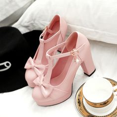 "Sweet bowknot heels Coupon code ""cutekawaii"" for 10% off"