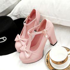 "Sweet bowknot heels Coupon code ""cutekawaii"" for 10% off"