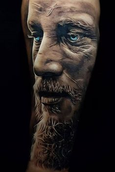 Ragnar Lothbrok tattoo design ideas for men inspired by the Vikings series Norse Mythology Tattoo, Norse Tattoo, Viking Tattoos, Lion Tattoo, Warrior Tattoos, African Sleeve Tattoo, Wolf Tattoo Sleeve, Arm Tattoo, Sleeve Tattoos
