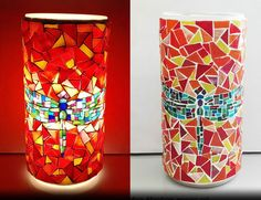 Soul mosaic lamp (orange)