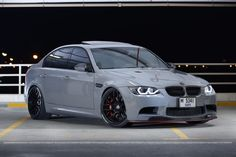 The Only Harrop / Nardo Grey in the Middle East ! Bmw 330i, E90 Bmw, Bmw Cars, E90 335i, Customize My Car, Bmw E46 Sedan, Nardo Grey, Custom Bmw, Bmw Love