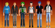 Men's height comparison by Rolneeq on DeviantArt
