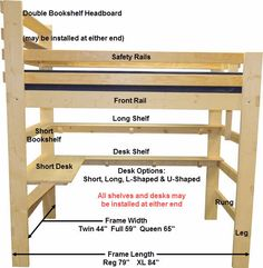Diy Loft Bed Plans _ Diy Loft Bed diy loft bed plans ~ diy loft bed _ diy loft bed for kids _ diy loft bed for adults _ diy loft beds for small rooms _ diy loft bed plans _ diy loft bed for kids how to build _ diy loft be Build A Loft Bed, Loft Bed Plans, Loft Bunk Beds, Loft Plan, Kids Bunk Beds, Teen Loft Beds, Pallet Loft Bed, Loft Beds For Teens, Adult Loft Bed