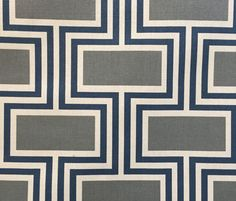 The Whole 9 Yards   Westlock-Mission. printed cotton, mid-century geometric, $23.99 a yard.