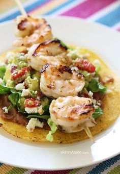 Grilled Shrimp Tostadas Recipe by Skinnytaste | Maypurr