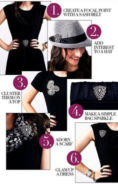 how to rock a brooch - Fashion Infographics