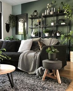 Bohemain Home Decor Ideas and Furniture Styles Here is one of the best idea for you to be the only boho style house owner. The room has been colored g Boho Living Room, Home And Living, Living Room Decor, Bedroom Decor, Bedroom Ideas, Bohemian Living, Green Living Room Ideas, Modern Living, Living Rooms