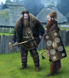 Germanic warriors from the Pre-Roman Iron Age (4th-1st centuries BC).
