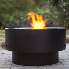 Solid Base Revolver Outdoor Fire Pit