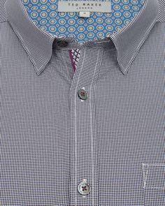 Printed spot shirt - Navy | Shirts | Ted Baker