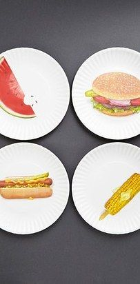 38 Absolutely Necessary Items For Everyone Obsessed With Burgers. Picnic PlatesDish SetsBath ... & Fromage Cheese Plates - Set of 4   Cheese Kitchens and Ware F.C.