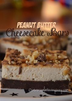 "Low carb bars ""Peanut butter cheesecake bars 