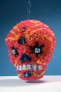 Handmade Sugar Skull Pinata  Day of the Dead  by elpinatero, $175.00
