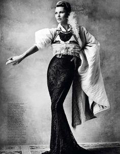 Kate Moss by Mario Testino for Vogue Paris, April 2013.