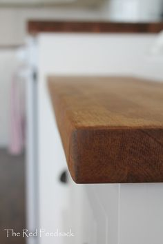 How to darken and finish birch butcher block counter tops with dark tung oil and citrus solvent.