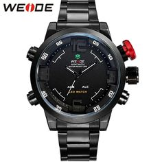 37.99$  Buy here - http://ali226.shopchina.info/1/go.php?t=32595266172 - WEIDE Men's Analog Digital Sport Watch Waterproof Alarm Date Multi-Functional 22mm Stainless Steel Watch Band Hot Sale Items  #aliexpresschina