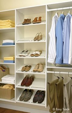 Easy Track - Located in Willoughby Hills Less expensive to just pick up product rather then on line.  can get at Commonwealth Lumber HWI   Closet Organizers   Custom Closet Systems by Easy Track