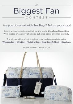 Think you're Sea Bags Biggest Fan? Tell us why for a chance to win this Sea Bags prize pack: http://dreamlocal.upickem.net/engine/YourSubmission.aspx?contestid=169751