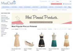 ModCloth inspires shoppers by featuring its most-Pinned products on its website.