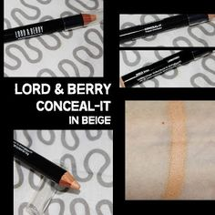 MichelaIsMyName: LORD & BERRY Conceal-it in Beige REVIEW Concealer, Berry, About Me Blog, Lord, Bury