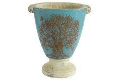 Medium Planter w/ Tree Design