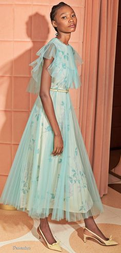 See the entire Red Valentino resort 2020 collection. Image credits: Courtesy of Red Valentino Fashion Now, Fashion Week, Fashion 2020, High Fashion, Red Valentino, Valentino Resort, Tulle Dress, Dress Up, Fashion Show Collection