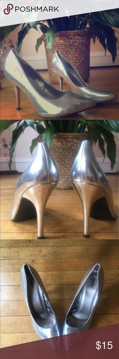 Disco Metallic Pumps intergalactic silver pumps perfect for girls night out! Mossimo Supply Co Shoes Heels