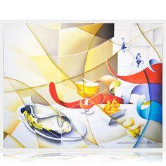 "Oil painting on canvas ""Sunday"" -100x81cm by the painter Amaury Dubois | Peinture à l'huile sur toile par l'artiste peintre Amaury Dubois Visit Gallery :http://www.amaury-dubois.com/en/real-illusion-colorful-paintings/217-painting-north-sea-still-life-fish-sole.html #painting #contemporary#art#fish#still life"
