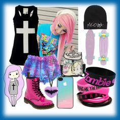 """""""pastel goth"""" by siamcatx on Polyvore"""