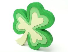 Children's Green Shamrock Puzzle and Decor by berkshirebowls ($34.99)