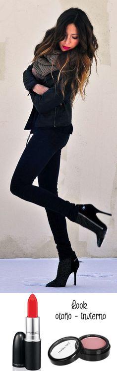Complementa tu outfit con un labial #MAC y un blush #Inglot ;) #Otoño #Invierno #Vorana #Fashion #Moda vorana.mx