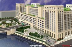 Rendering of the latest plans for Chicago's Old Post Office building.