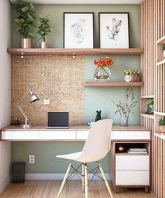 Mesa Home Office, Home Office Decor, Office Furniture, Office Decorations, Home Office Shelves, Furniture Design, Office Table, Office Chairs, Bedroom With Office