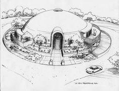 I want this! Monolithic Dome Homes, Gnu Linux, Dome House, The Hobbit, Architecture, Alternative, Decor, Cob Houses, Apartment Bathroom Design