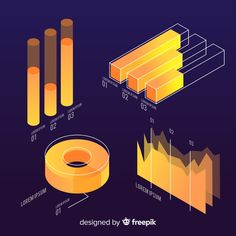 Isometric infographic elements collection Free Vector 3d Data Visualization, Information Visualization, Isometric Art, Isometric Design, Graph Design, Chart Design, Powerpoint Design Templates, Information Design, Graphic Design Illustration