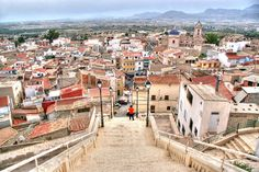 Looking down on Abanilla, Murcia.